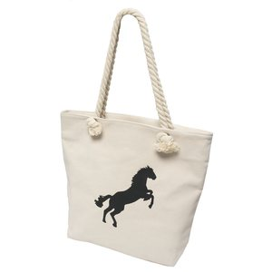 b3f376e7625f Canvas bag with horse print