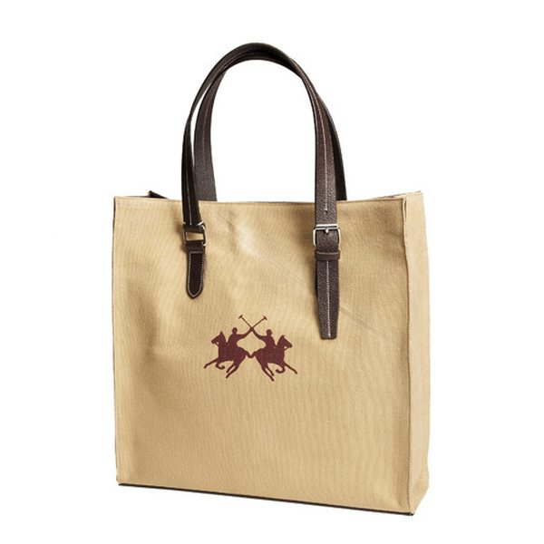 00216c94caa0 Horse Comfort Shopper bag polo in canvas   leather